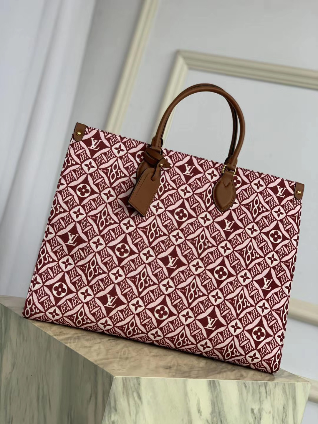 LV Since 1854 Onthego GM M57207 BORDEAUX RED