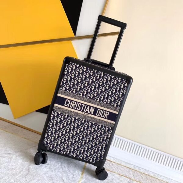 CHRISTIAN DIOR OBLIQUE TROLLEY DIORTRAVEL SUITCASE