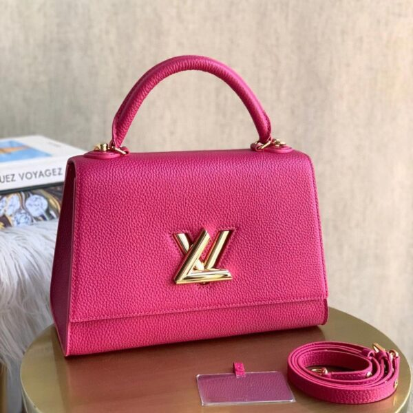 LV TWIST ONE HANDLE ROSE PURSE MM