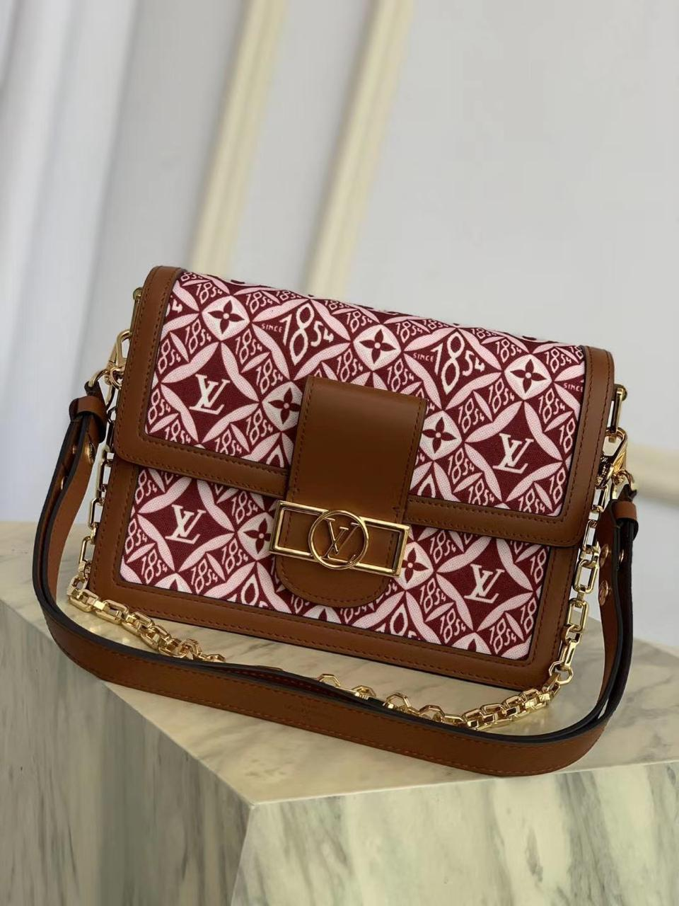 LOUIS VUITTON SINCE 1854 DAUPHINE RED PURSE