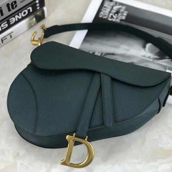 Christian Dior Saddle Green Grained Calfskin Purse