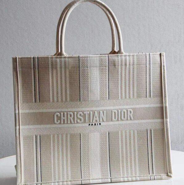 Christian Dior Book Tote Apricot